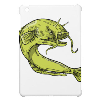 Devil Catfish Jumping Drawing iPad Mini Cover