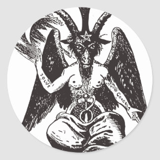 Devil Classic Round Sticker