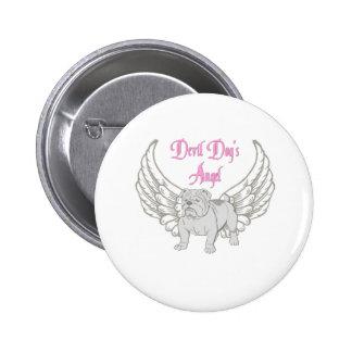 DEVIL DOG'S ANGEL 6 CM ROUND BADGE
