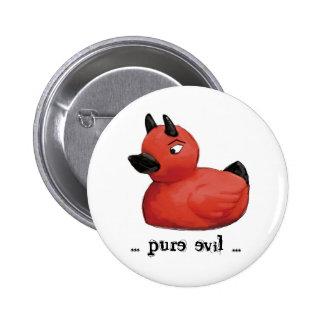 Devil Duck Stuff... 6 Cm Round Badge