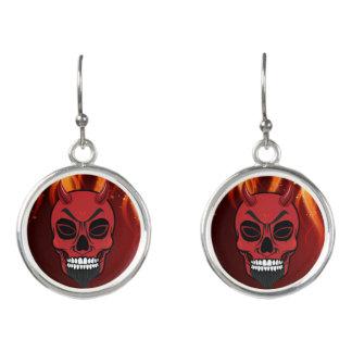 Devil Earrings - Devil Skull Jewelry Design