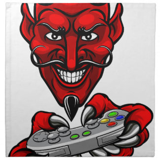 Devil Esports Sports Gamer Mascot Napkin