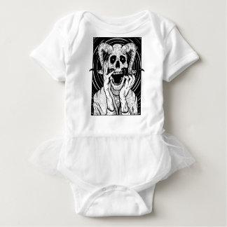 devil face baby bodysuit