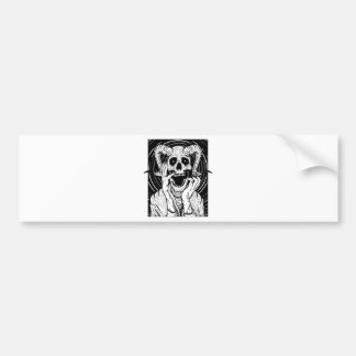 devil face bumper sticker
