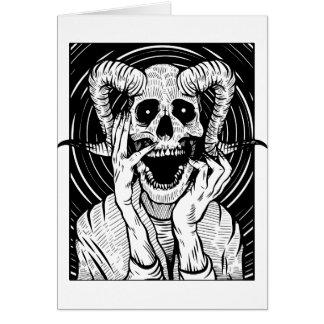 devil face card