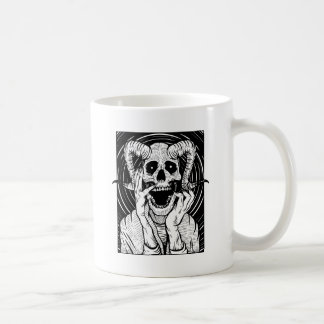 devil face coffee mug