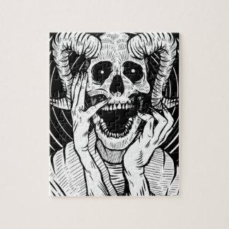 devil face jigsaw puzzle