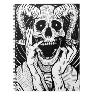 devil face notebooks
