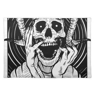 devil face placemat