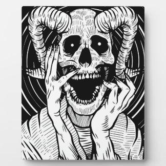 devil face plaque