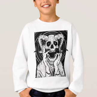 devil face sweatshirt