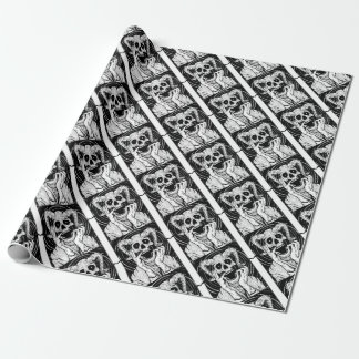 devil face wrapping paper