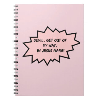 Devil, get out of my way! notebooks