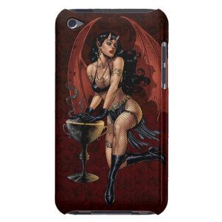 Devil Girl Witch s Cauldron Smoking Gothic Art iPod Touch Case