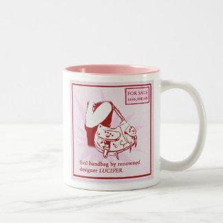 Devil handbag, Devil handbag Two-Tone Coffee Mug