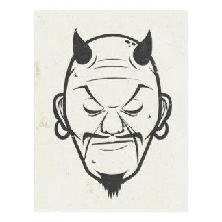 Devil Head b/w Postcard