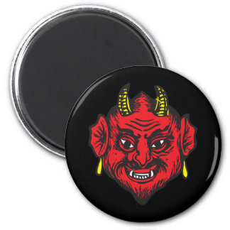 Devil Head (bright red & yellow) Magnets