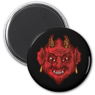 Devil Head (red) Magnets