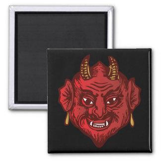 Devil Head (red) Refrigerator Magnet