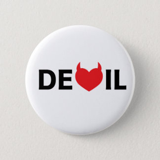 Devil & Heart 6 Cm Round Badge