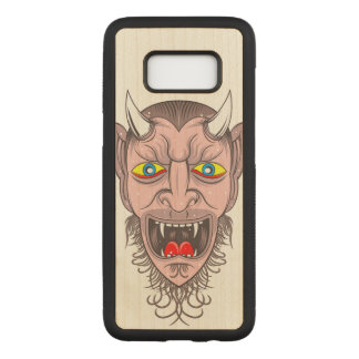 Devil Illustration Carved Samsung Galaxy S8 Case