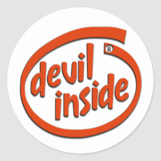 DEVIL INSIDE CLASSIC ROUND STICKER