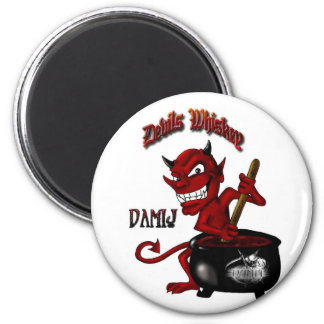 Devil LARGE w-Reaper LOGO - BUTTON 6 Cm Round Magnet