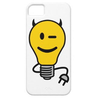 Devil Lightbulb with plug tail iPhone 5 Case