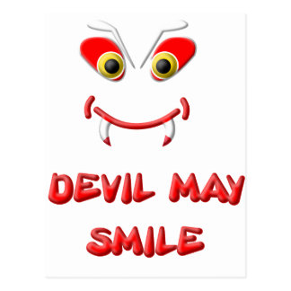 DEVIL MAY SMILE 2.png Postcard