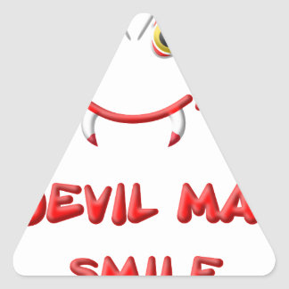 DEVIL MAY SMILE 2.png Triangle Sticker