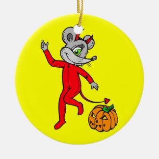 Devil Mouse Christmas Ornament