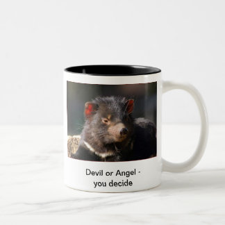 Devil or Angel Two-Tone Coffee Mug
