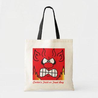 Devil Personalize Trick or Treat Bag Canvas Bag