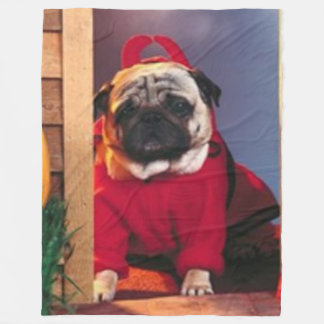 DEVIL PUG FLEECE BLANKET