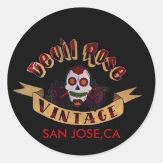 devil rose vintage sticker