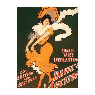 Devil s Auction Woman in Costume Theatre Canvas Print