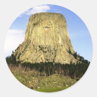 Devil s Tower Wyoming Round Sticker