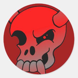 Devil Skull Sticker