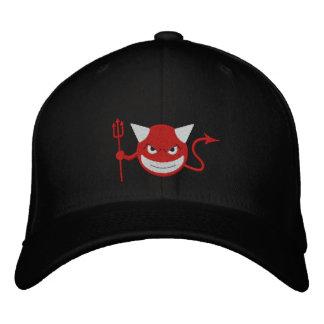 Devil Smiley Embroidered Hat