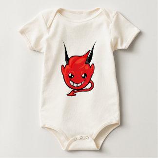 devil smiley face baby bodysuit