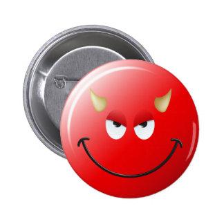 Devil Smiley Face Pin