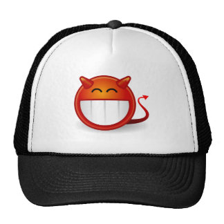Devil Smiley Funny Cap