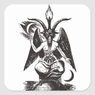 Devil Square Sticker