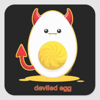 Deviled Egg Square Sticker