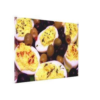 Deviled Eggs Stretched Canvas Prints