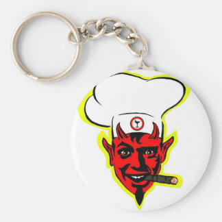 Devilish Chef Basic Round Button Key Ring