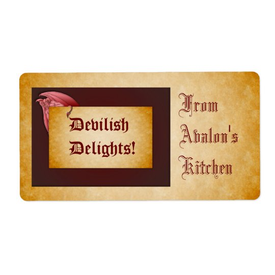Devilish Delights Halloween Treats Baking Label Shipping Label