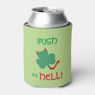 Devilish Irish Shamrock Does A Jig Can Cooler