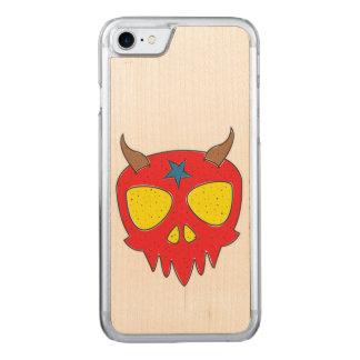Devilish Skull Illustration Carved iPhone 8/7 Case