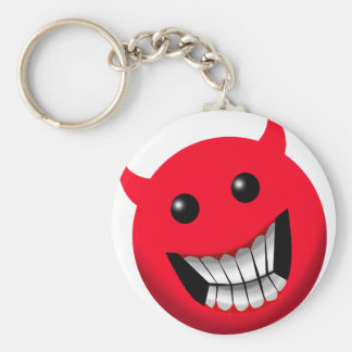 Devilish Smile Basic Round Button Key Ring